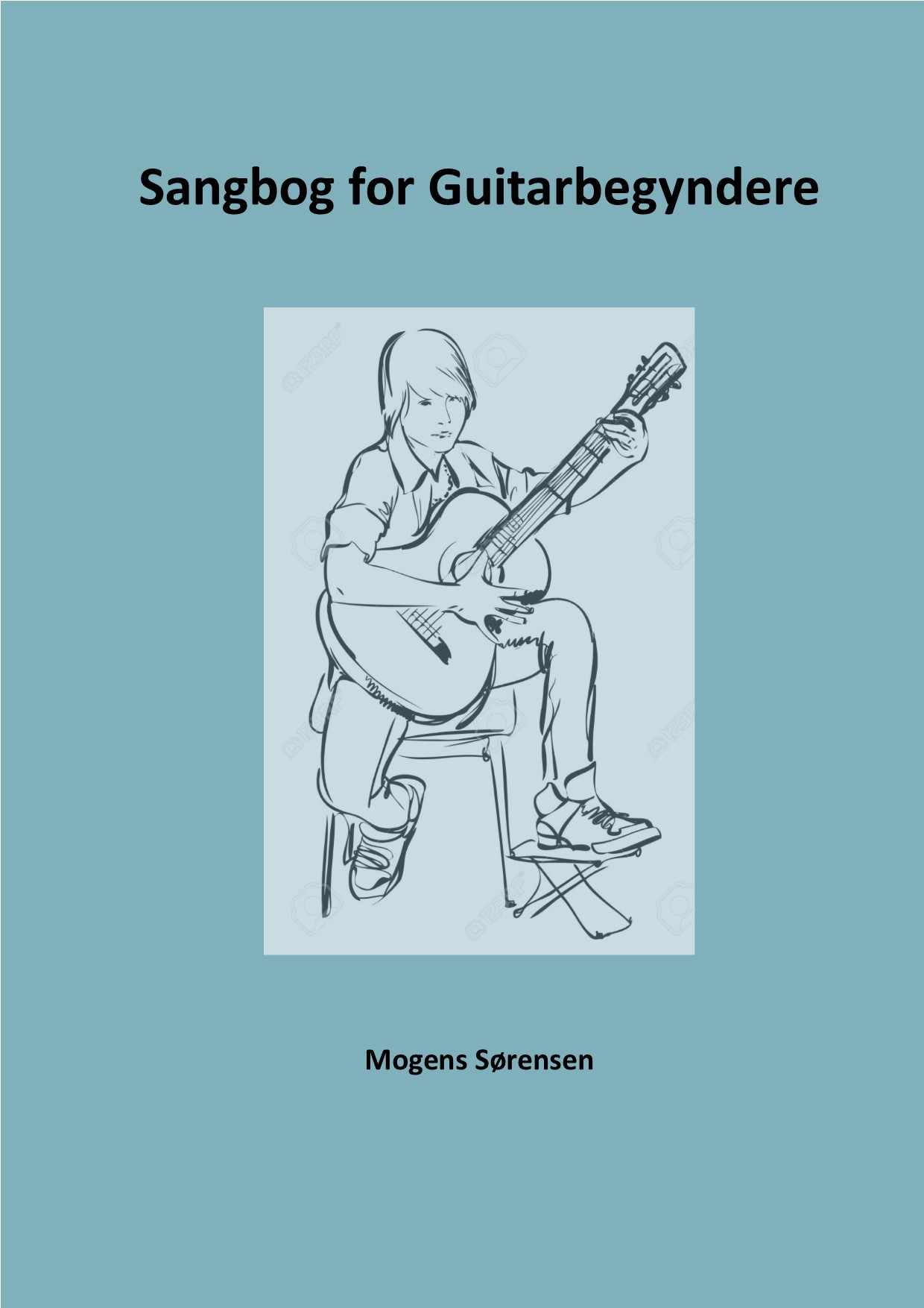 Coverbillede til Sangbog for Guitar-begyndere.