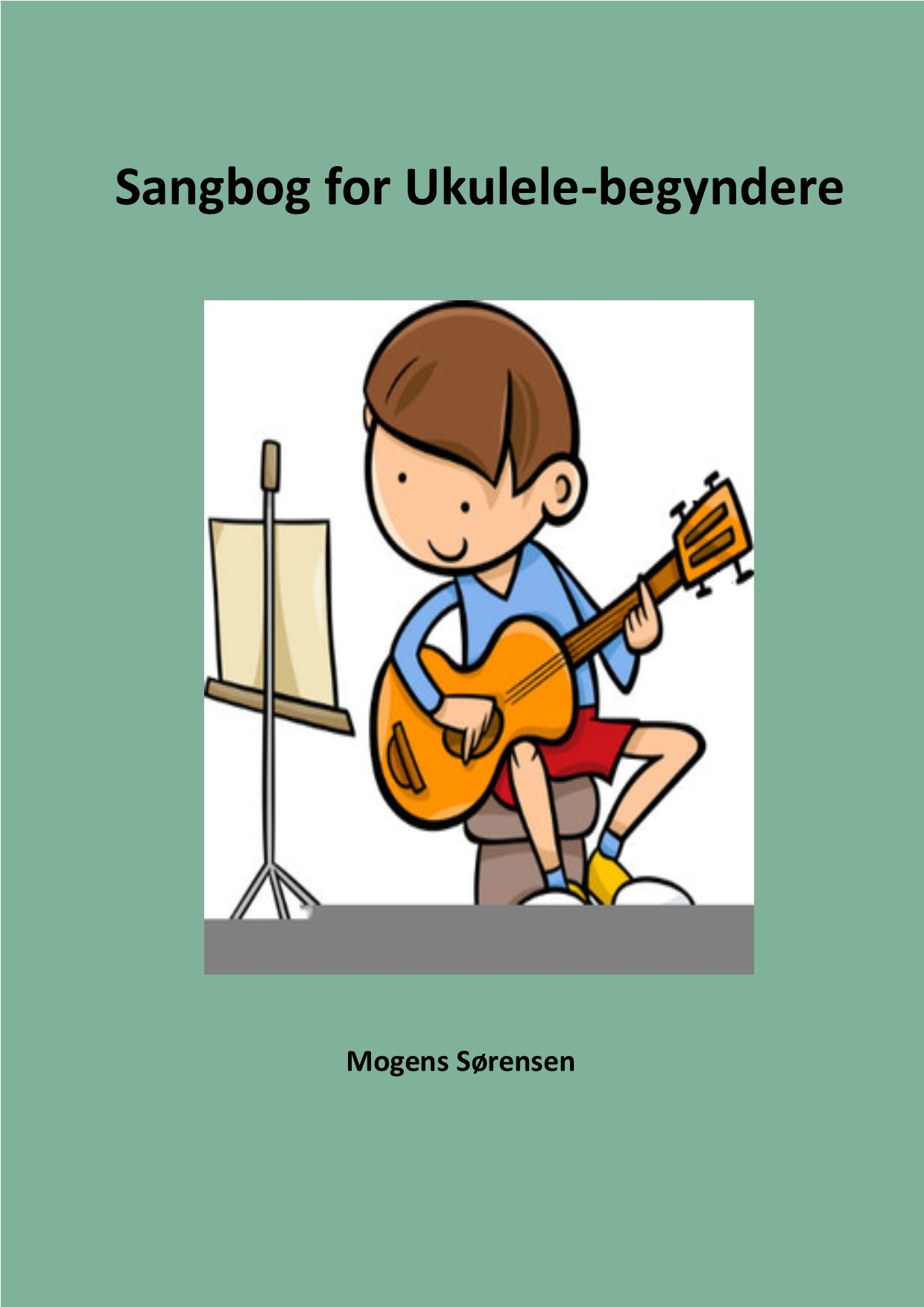 Coverbillede til Sangbog for Ukulele-begyndere.